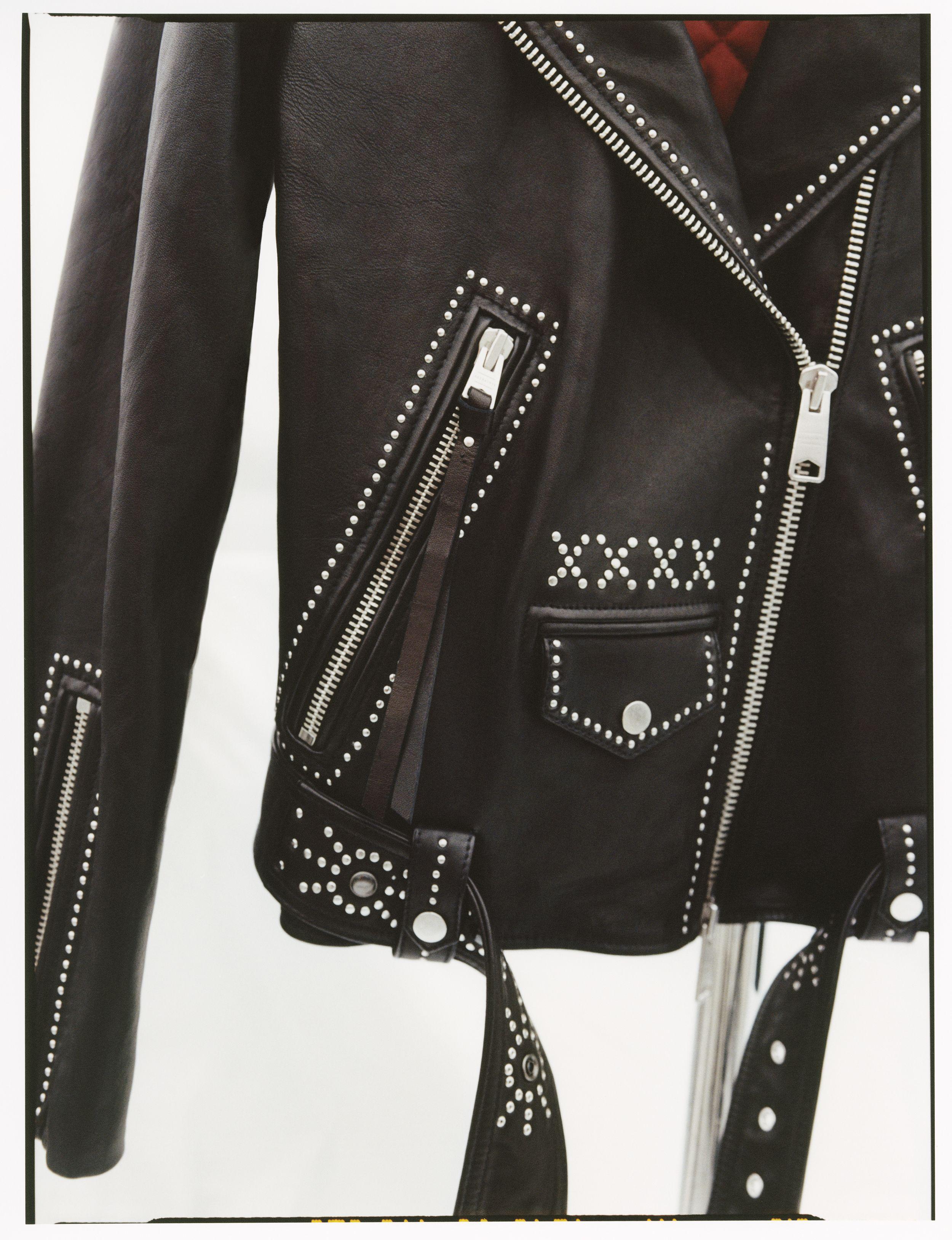 Allsaints Luna Studded Leather Biker Jacket In 2021 Leather Jackets Women Gothic High Fashion Leather Jacket [ 3256 x 2500 Pixel ]