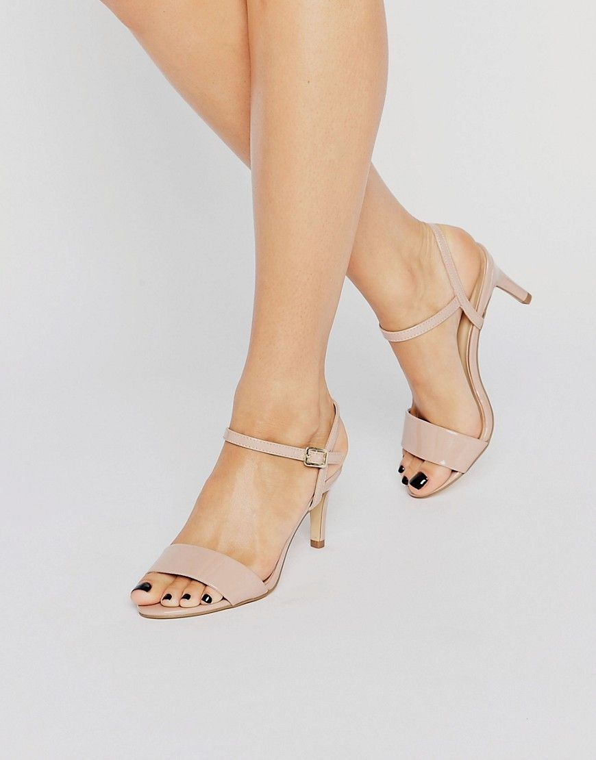 limited guantity sleek super popular New Look Barely There Mid Heel   Heels, Bridesmaid shoes ...