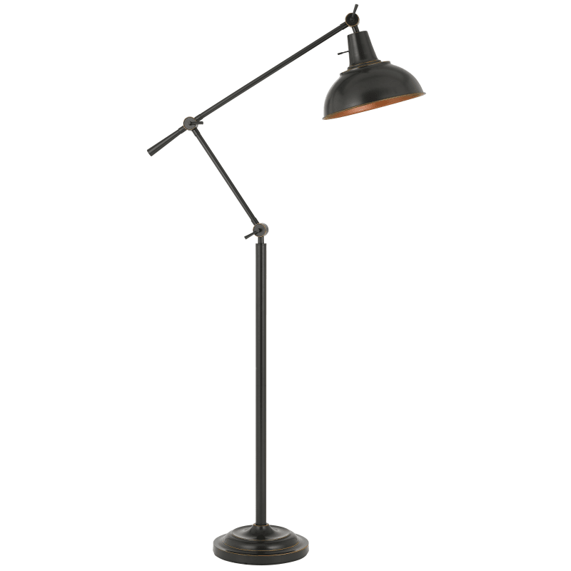 Cal Lighting Bo 2689fl Db Dark Bronze Eupen Single Light 62 Tall Boom Arm Floor Lamp With Adjustable Shade Cal Lighting Metal Floor Lamps Lamp