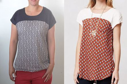 the easy tee {the anthro pattern drop version   Autumn, Drop and Easy
