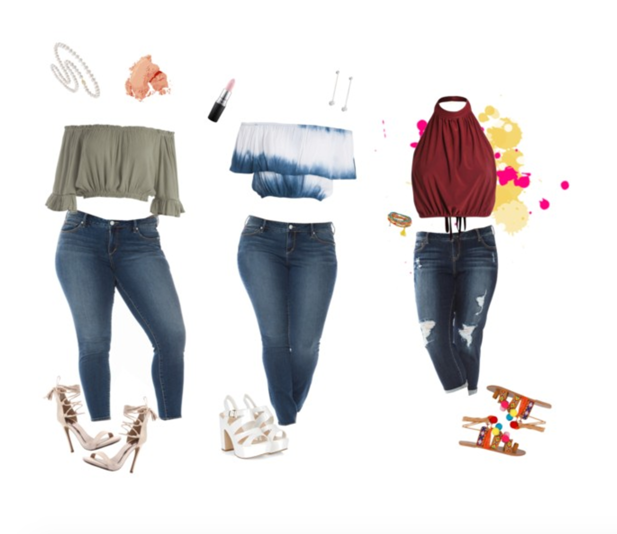 Summer time is here! Click the link for summer style inspo.    #curvystylesummer