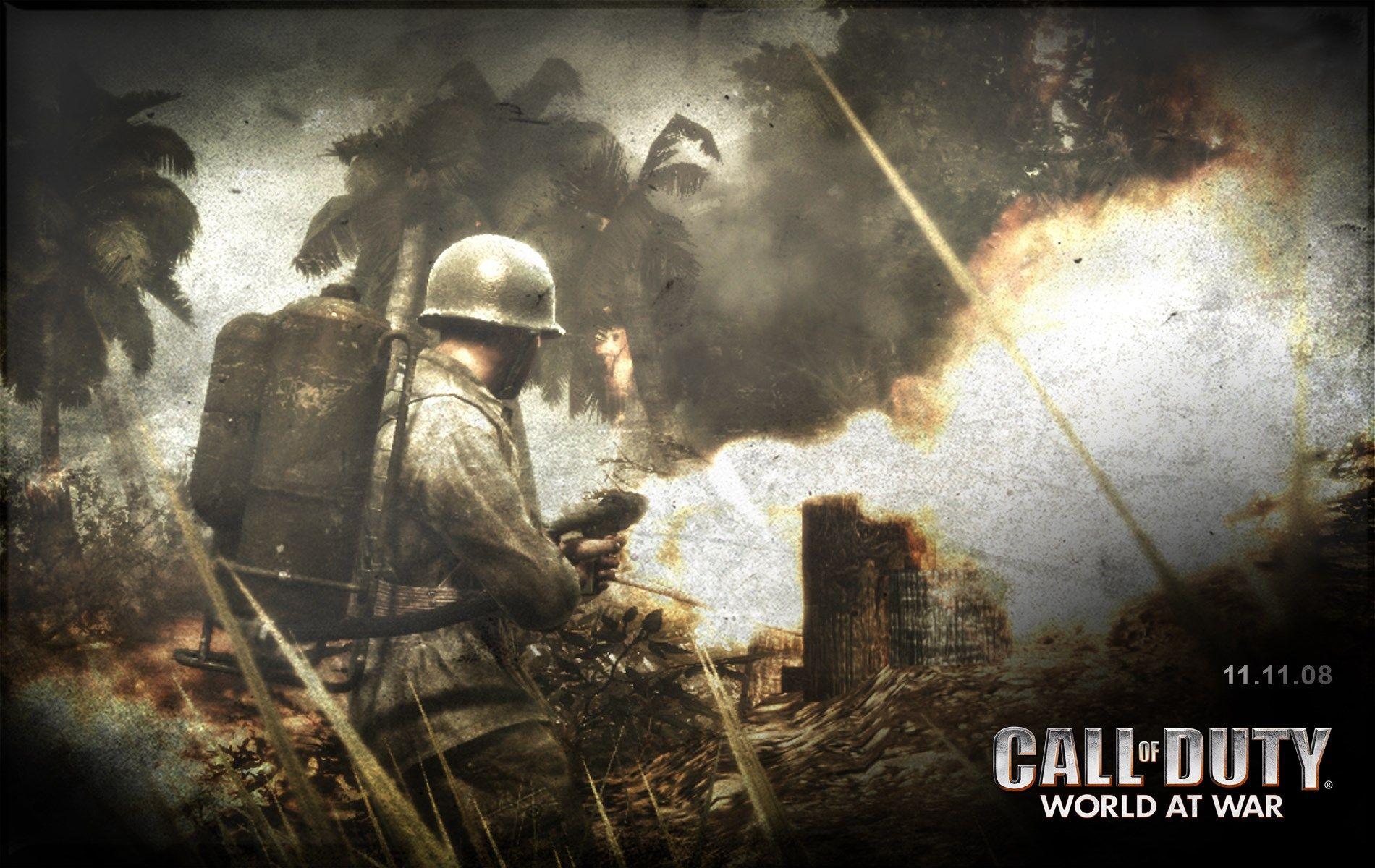 1900x1200 Call Of Duty World At War Game Wallpaper