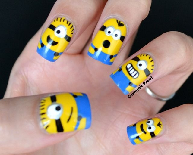minions nail art design - Minions Nail Art Design Nails Pinterest Minion Nail Art
