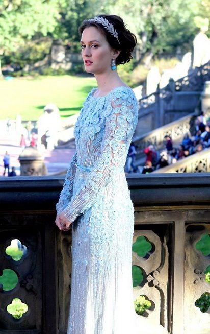 Blair Waldorf In Elie Saab Celebrity Wedding Dresses Gossip Girl Fashion Gossip Girl Outfits