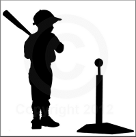 A blog on how I created this custom silhouette of my son playing TBall.