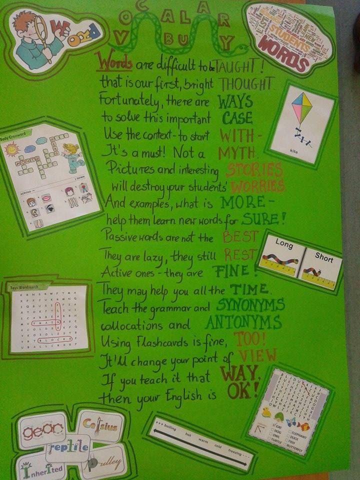 English language vocabulary poster project shared by Magdalena Dygała