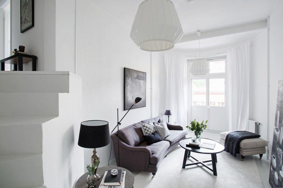 un apartamento decorado en blanco y negro ideas