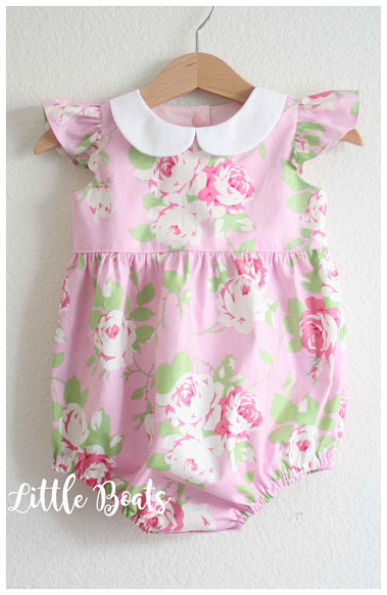 763bbd3b2228 Chloe Pink Baby Toddler Girl Peter pan Collar Bubble Romper Playsuit - Easter  Baby shower gift Photo shoot Classic Vintage Shabby Chic Style  affiliate