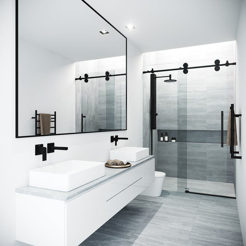 Photo of 48 x 76 Single Sliding Frameless Shower Door