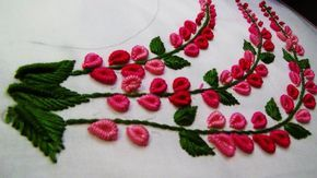 Photo of Hand Embroidery: Neckline Embroidery / Brazilian Embroidery