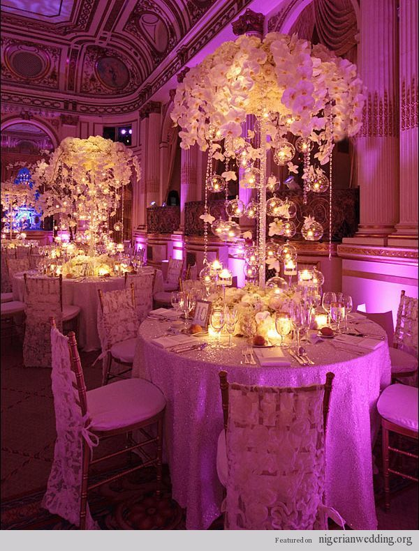 luxury weddings | Luxurious, Elegant & Fabulous Wedding Reception Centerpiece Ideas... |