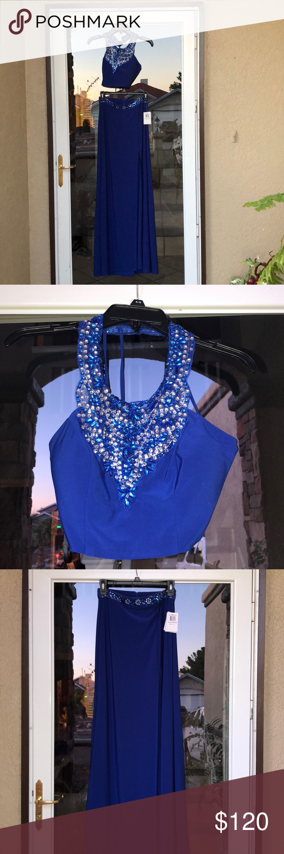 piece dress with diamond sequins nwt in my posh picks