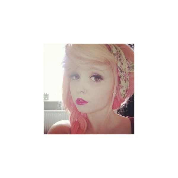 .@eleanorkershaw | Bonjour #pink #redlips #nosering ❤ liked on Polyvore featuring accessories, people, eleanor kershaw, girls, hair, models and kershaw