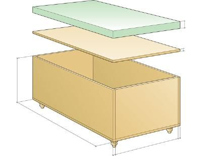 DIY Upholstered storage ottoman from Fresh Home Ideas   Build this ...