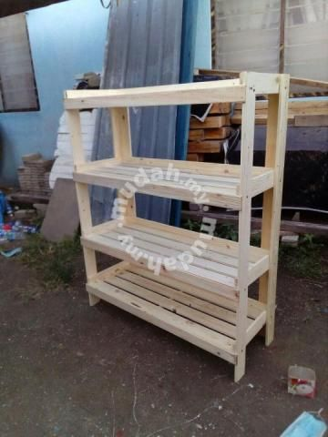 Rak Kayu Pallet Pine Furniture Decoration For In Ipoh Perak