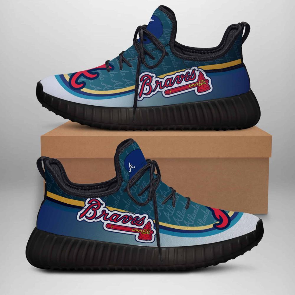 Atlanta Braves Limited Edition Black Yeezy Sneaker Ver 2