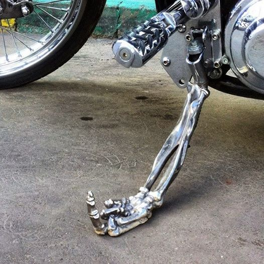 Skeleton Hand Kick Stand Harley Bikes Harley Davidson Bikes