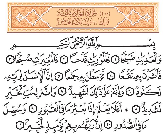سورة العاديات Quran Verses Verses Quran