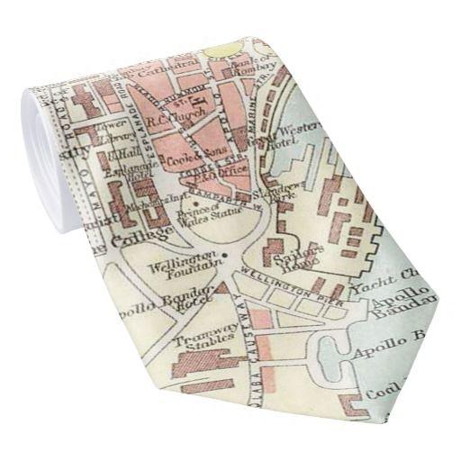 Vintage Map of Bombay India (1893) Neck Tie