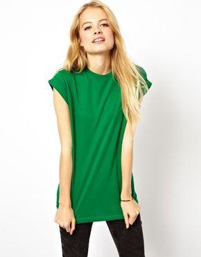 Boyfriend T-Shirt with Roll Sleeve /  ASOS / $19.05