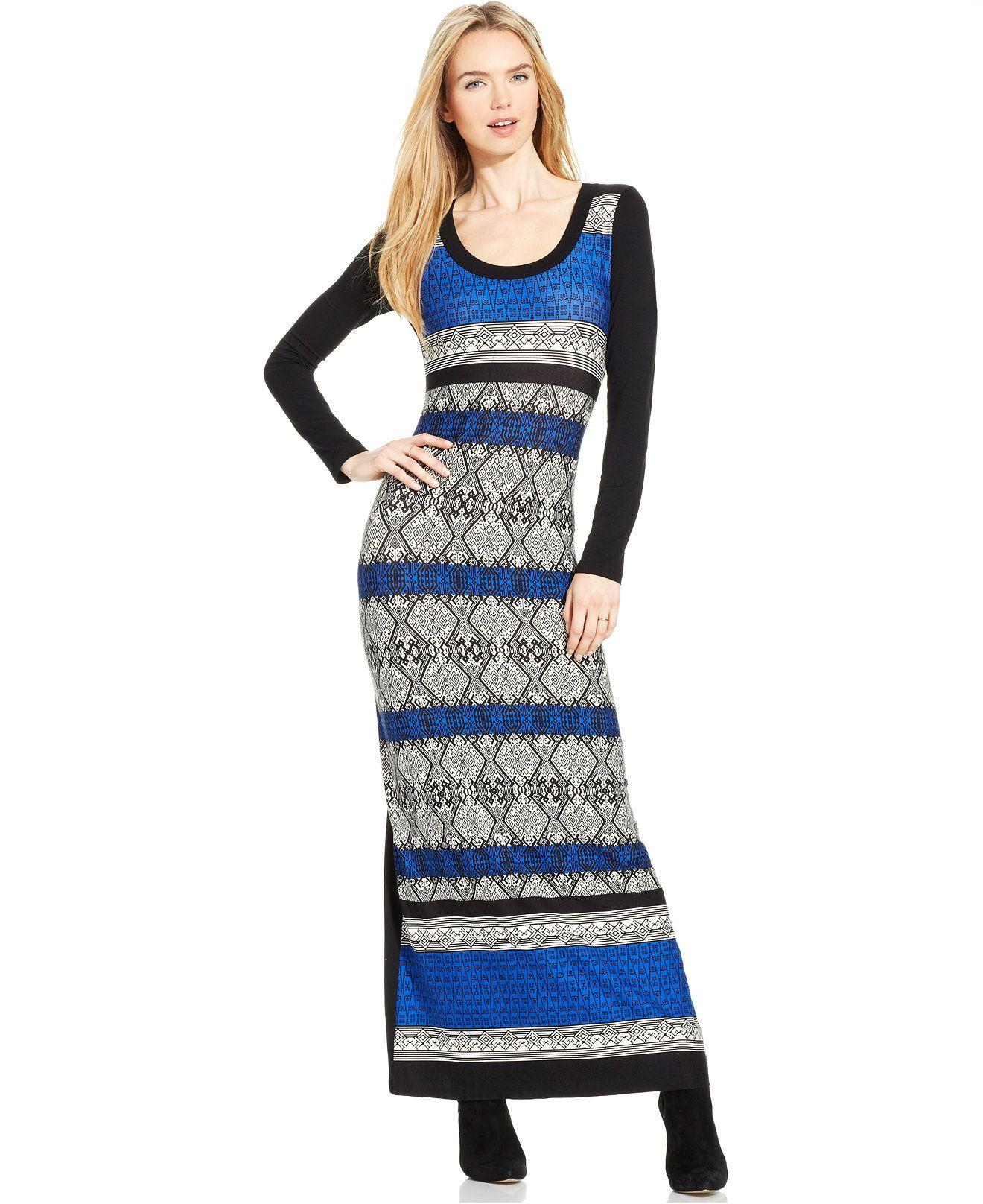 Karen Kane Printed Maxi Dress Dresses Women Macy S Printed Maxi Dress Maxi Dress Macys Fashion [ 1616 x 1320 Pixel ]