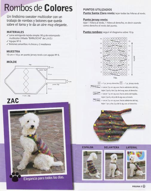 rombos de colores | Crochet | Pinterest | Ropa para perros, Croché y ...