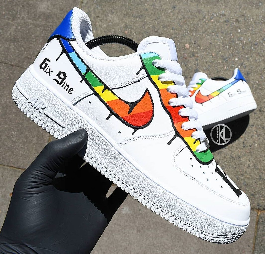 newest 4b00a 67c95 6ix9ine Nike Air Force 1 Custom