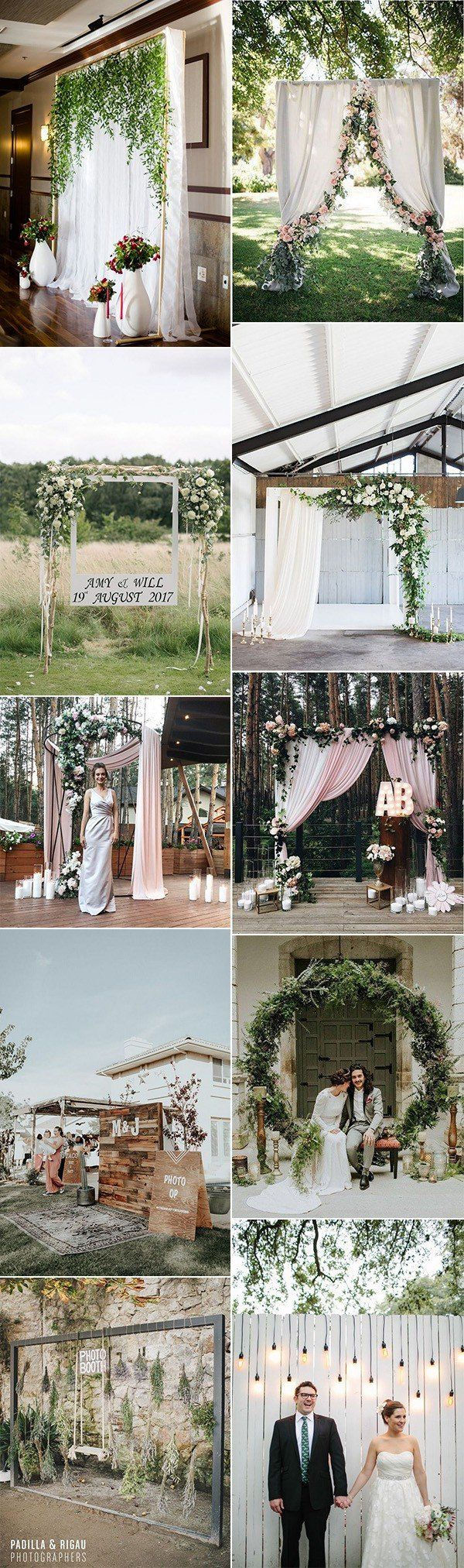 Stunning Wedding Photo Booth Backdrop Ideas in   Enchanted