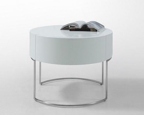 Best Modern White Lacquer Round Nightstand 340 At Modernmiami 400 x 300
