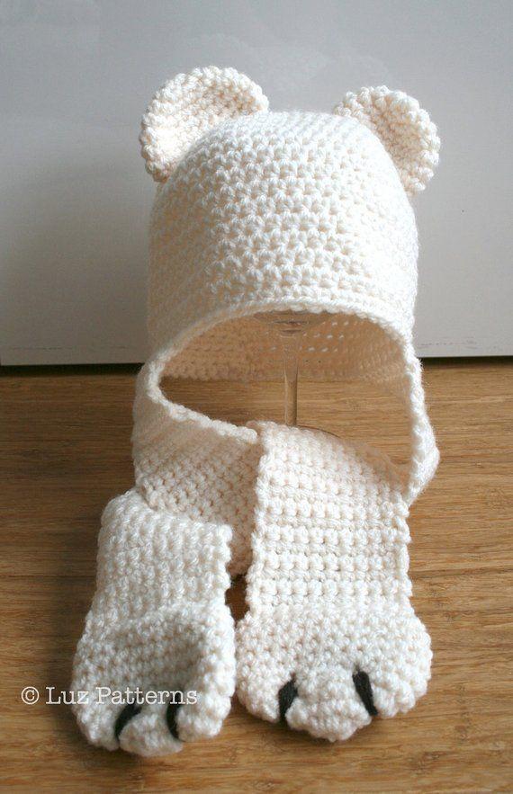 52083b99a9f Crochet hat pattern INSTANT DOWNLOAD crochet baby bear hat