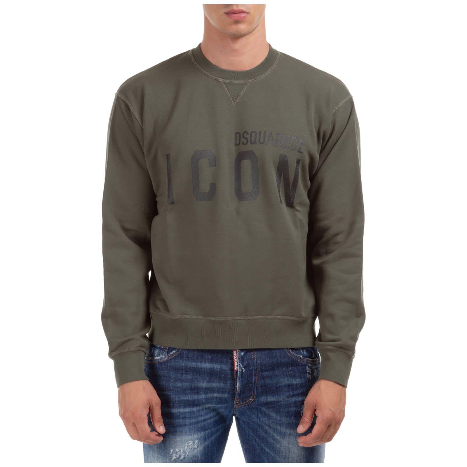 Icon Sweatshirt In 2021 Sweatshirts Long Sleeve Tshirt Men Dsquared2 [ 1600 x 1600 Pixel ]