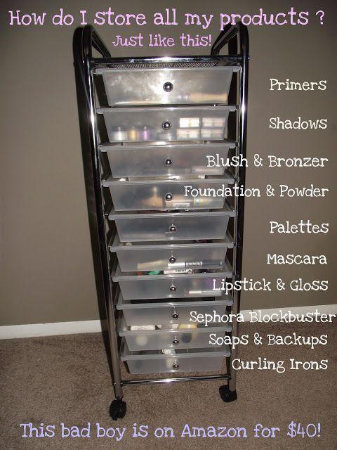 Makeup Storage! & Makeup Storage! | Blog! | Pinterest | Make up storage Storage ideas ...