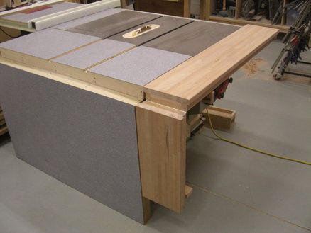 Folding Sliding Table Saw Extension Wing New Studio