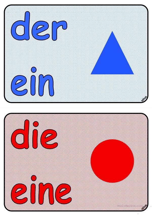 Artikel _ Symbole _ Poster (A5) | Hallo, Kinder, wir lernen Deutsch ...