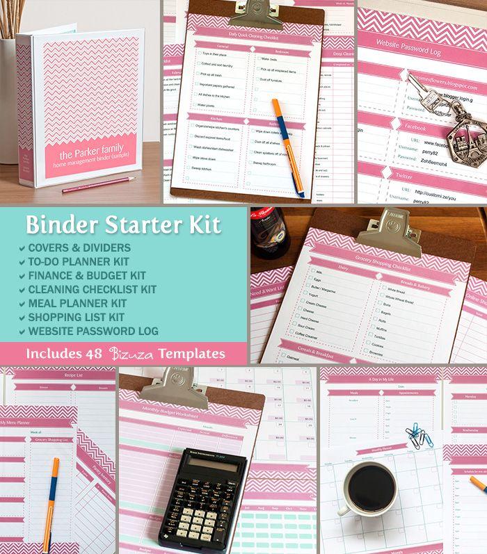Home Organizer Binder Templates Home Management Binder Starter