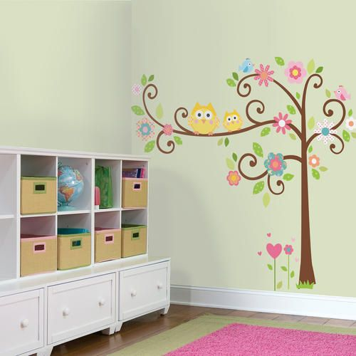 19 at menards clearance roommates scroll tree peel stick giant wall decal at menards