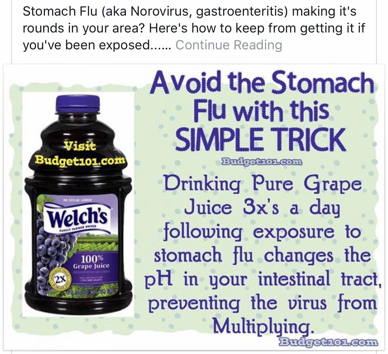 norovirus grape juice