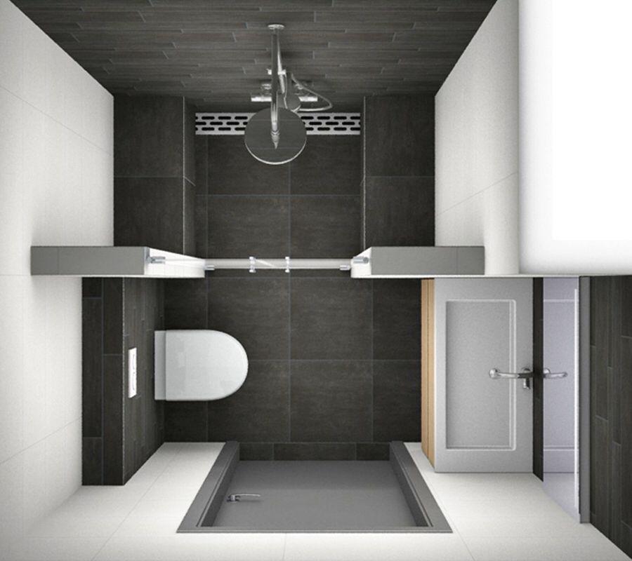 Kleine badkamer   Bathroom   Pinterest   Gäste wc, Gast und Anbau