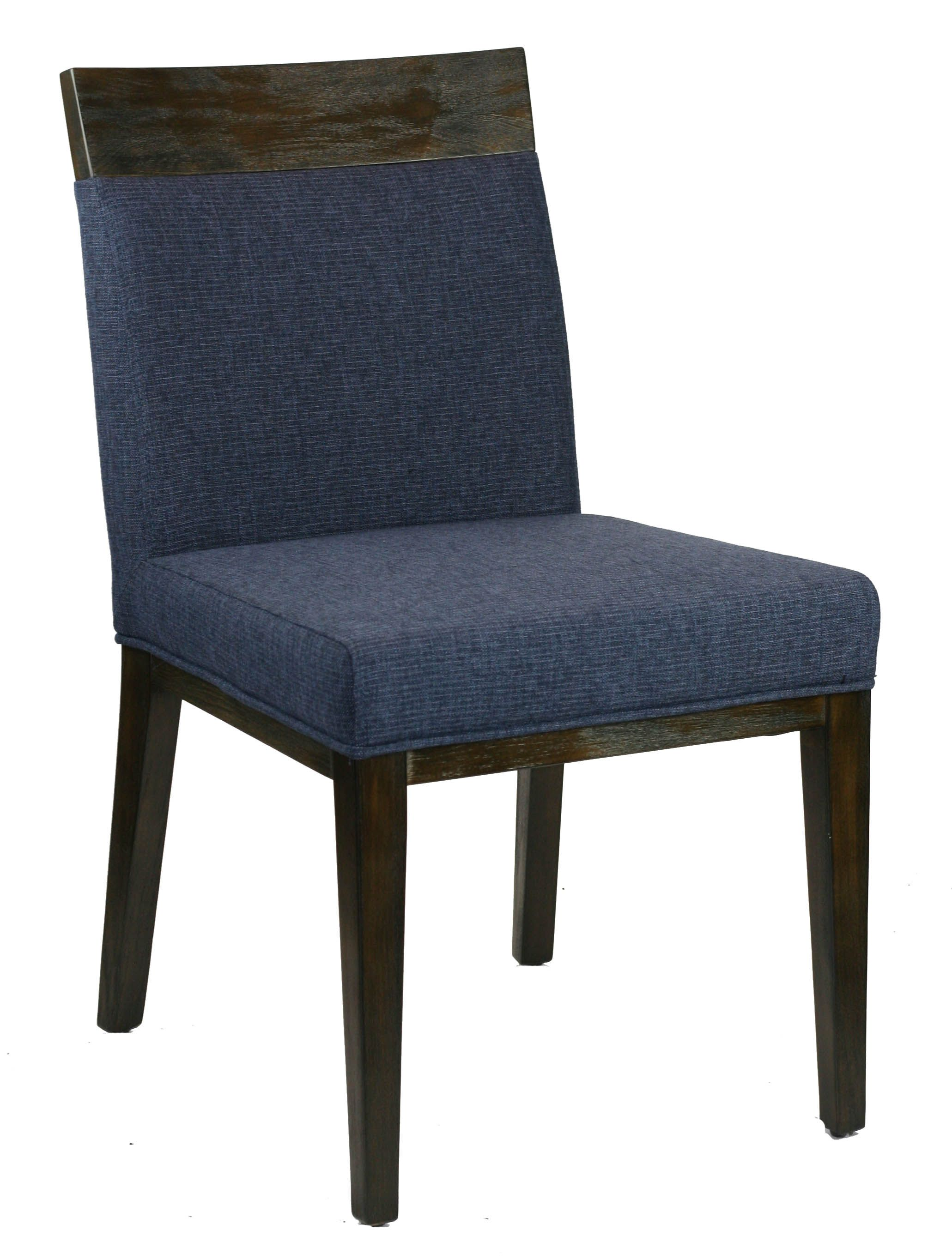 Best R 1012 Blue Fabric Dining Chair With Wood Frame Fabric 400 x 300