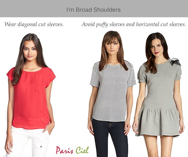 Tips Tricks To Minimizing Broad Shoulders For Women Paris Ciel En Broad Shoulders Inverted Triangle Fashion Dressing Your Body Type