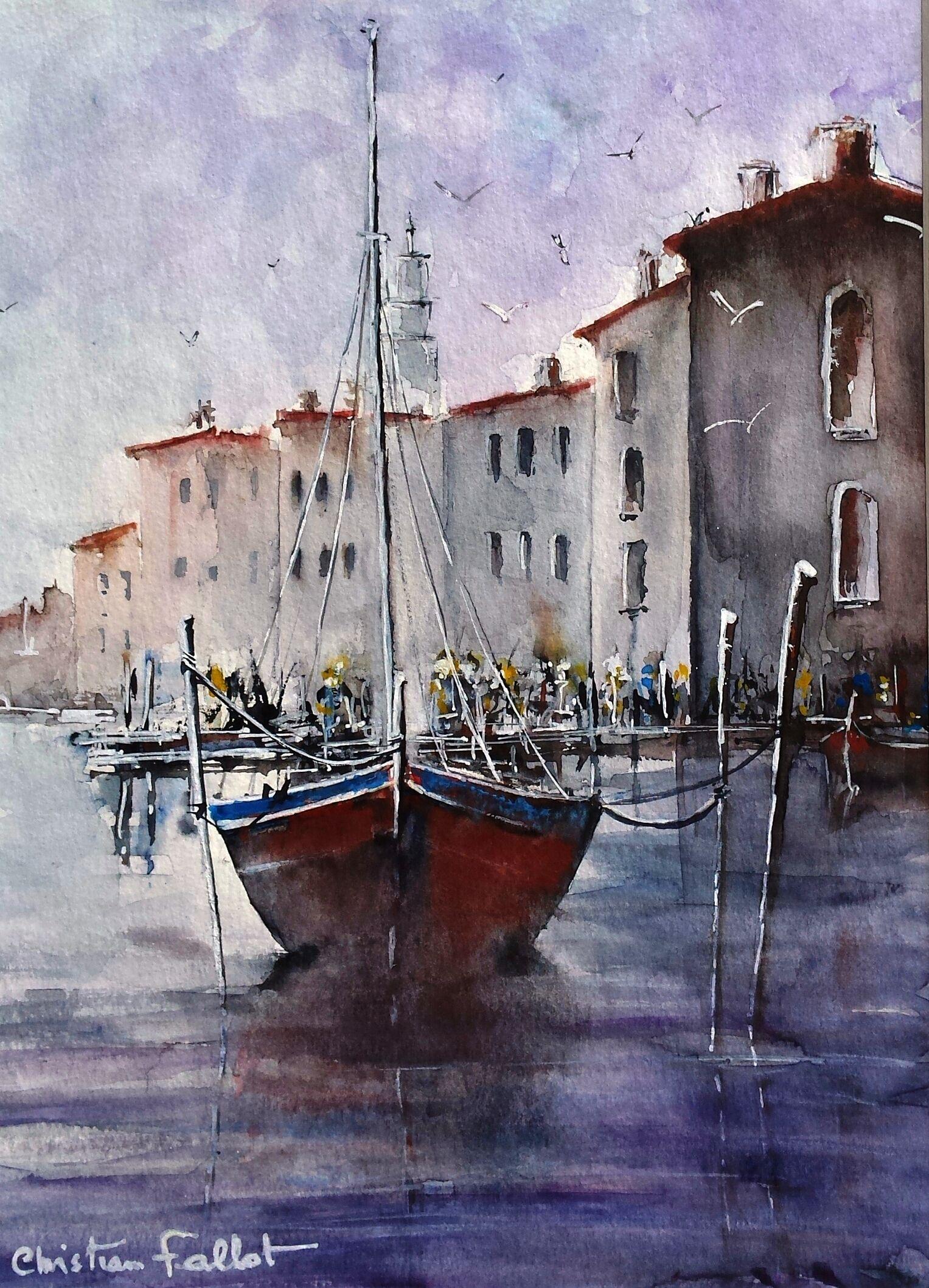 Christian Fallot Aquarelle Venise 1 Watercolor Techniques Art