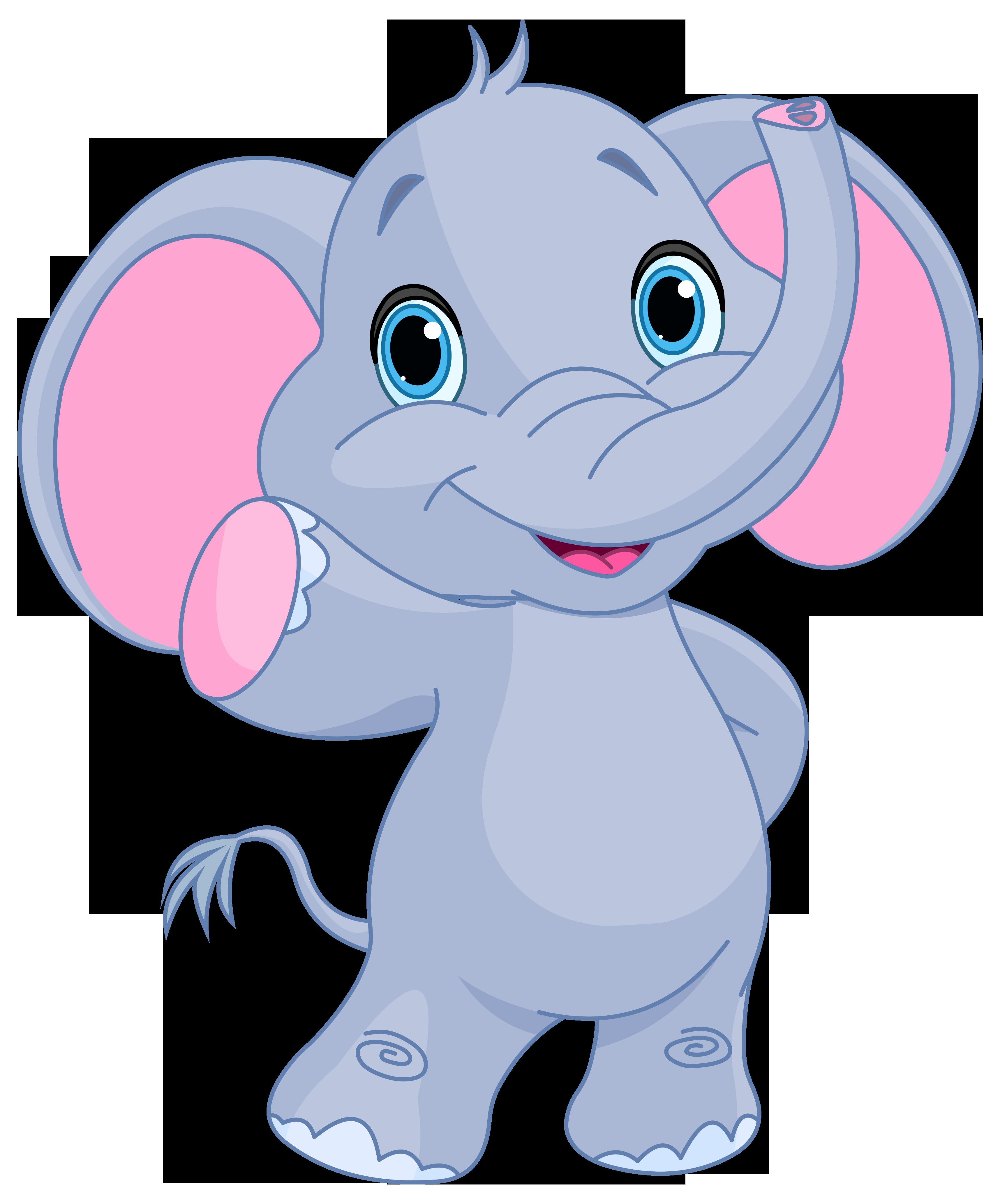 cute elephant clipart image [ 3457 x 4134 Pixel ]