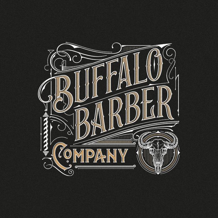 Vintage Barber Shop Design With Lhf Emporium Font Vintage Logo Design Victorian Lettering Lettering Design