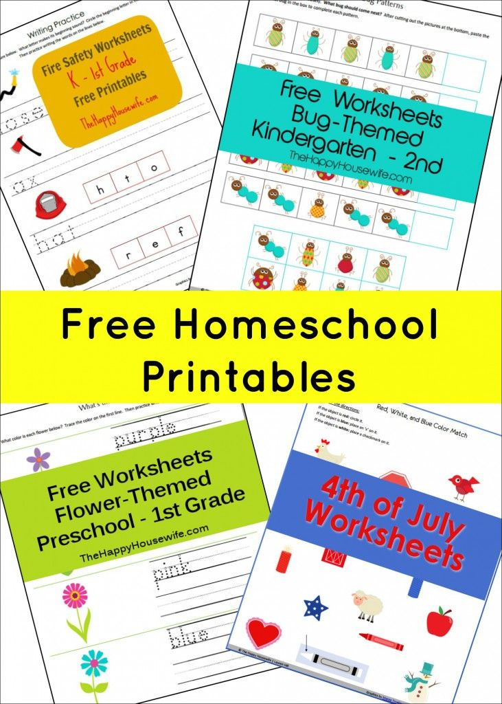 Free Printable Worksheets Homeschool worksheets