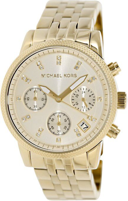 bf2641f250ee Michael Kors Women s MK5676 Ritz Gold-Tone Stainless Steel Chronograph Watch