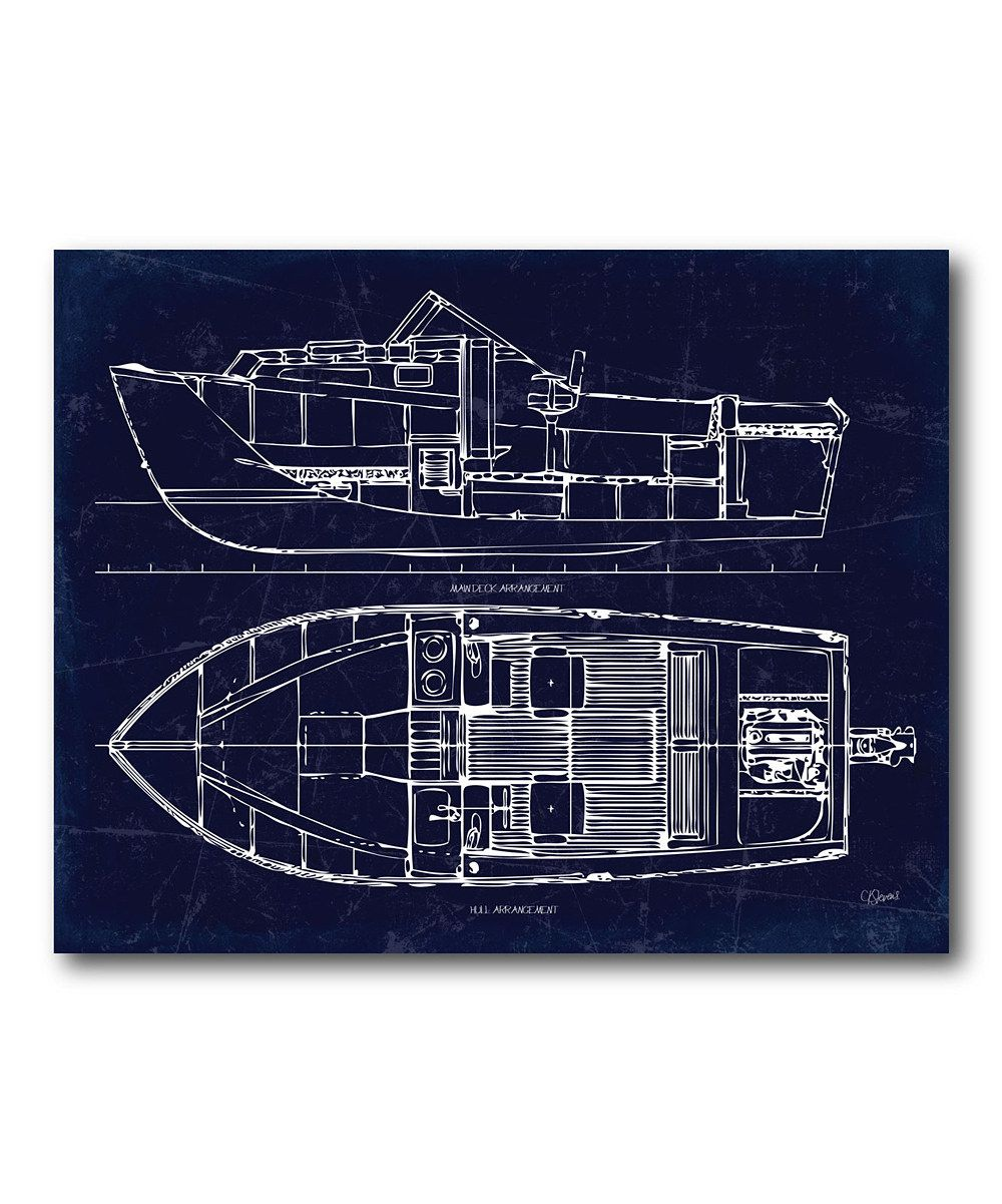 This boat blueprint ii canvas by courtside market is perfect this boat blueprint ii canvas by courtside market is perfect zulilyfinds malvernweather Gallery