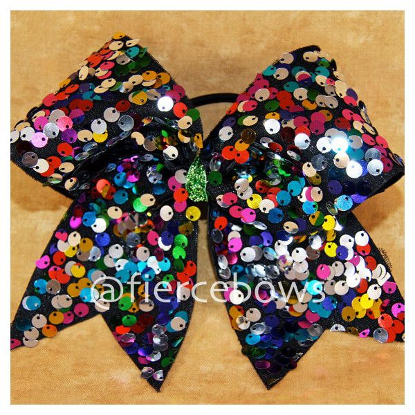 Cheer Bow ($10) ❤ liked on Polyvore featuring cheerleading, bows, cheer and hair