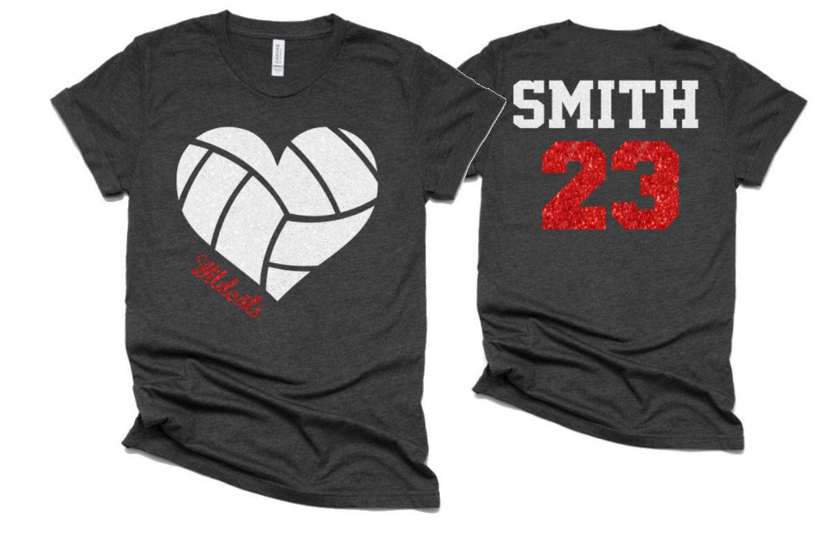 Glitter Volleyball Heart Shirt Volleyball Shirts Etsy Volleyball Shirt Designs Volleyball T Shirt Designs Volleyball Mom Shirts