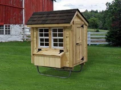 Amish Made Urban Cottage Chicken Coop Kit 3u0027 X 4u0027 | Urban Cottage, Coops  And Raising Chickens