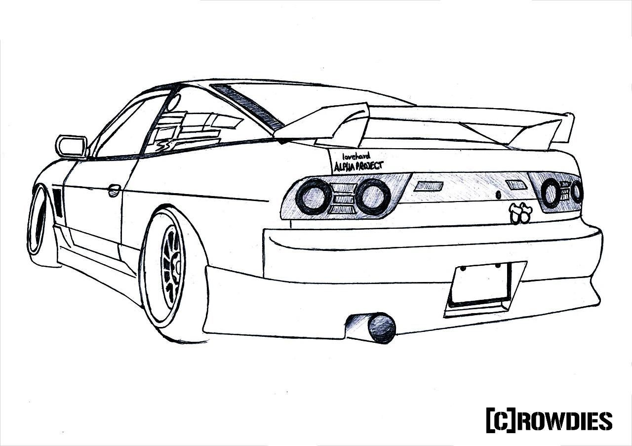240sx coloring page